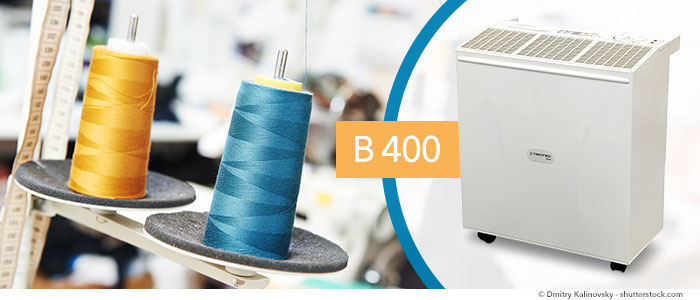 humidification de l'air pour l'industrie du textile