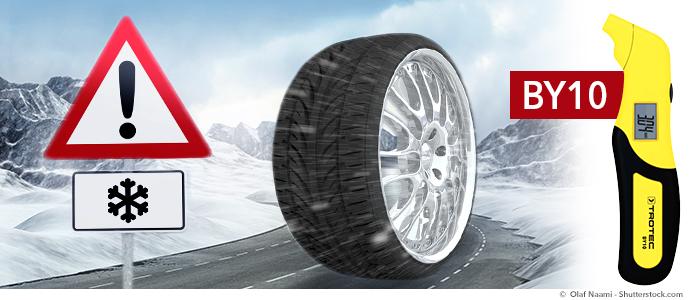 testeur de pression pour pneus BY10 de Trotec