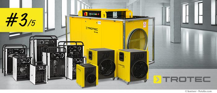 chauffages électriques mobiles professionnels