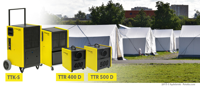 éliminer l'humidité dans les tentes de réfugiés