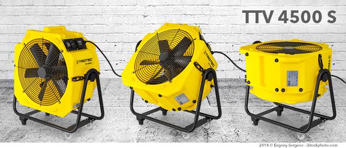 berceau à positionnement variable pour ventilateur TTV 4500 S