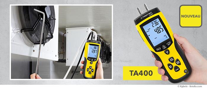 anémomètre à tube Pitot Trotec TA400