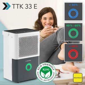 NOUVEAU Déshumidificateur confort TTK 33 E commandé par hygrostat pour maintenir au sec et améliorer la qualité de l'air des pièces humides – enfin de nouveau disponible