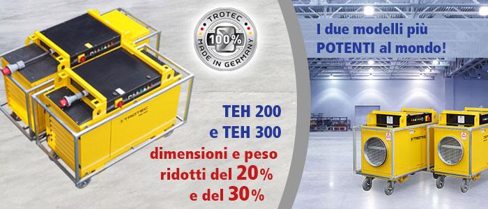 Riscaldatori elettrici TEH 200 e TEH 300