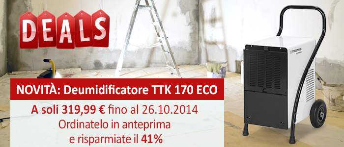 Deumidificatore TTK 170 ECO