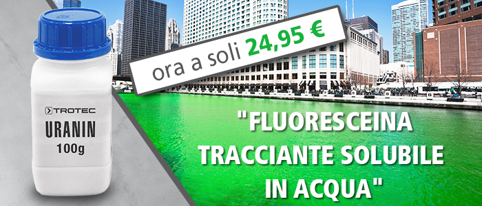 Tracciante idrogeologico fluoresceina