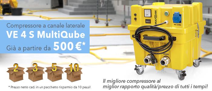 Compressore a canale laterale VE 4 S MultiQube