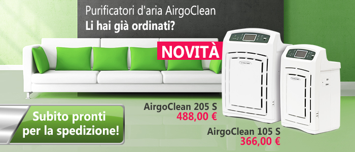 Depuratori d'aria AirgoClean 105 S & 205 S