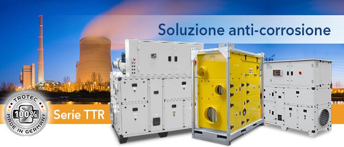 Deumidificatori industriali Serie DH e TTR