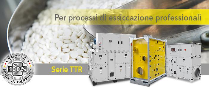 Deumidificatori industirali serie TTR