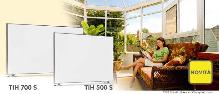 Novità: pannelli a infrarossi TIH 500 S e TIH 700 S