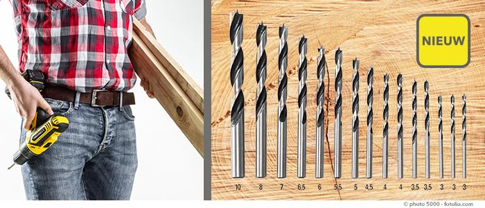 15-delige houtboorset