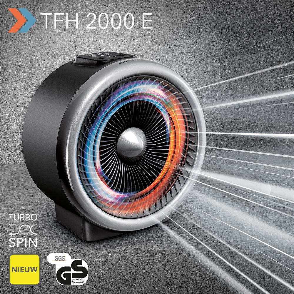 Voorkeur NIEUW 2-in-1 kachel en ventilator TFH 2000 E – met Turbospin meer AL91