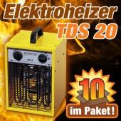 Elektroheizer TDS20 Zehnerpaket
