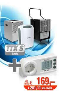 Luftentfeuchter plus gratis Energiekostenmessgerät