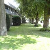 Rohrleitungsverlauf zwischen den Bäumen
