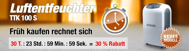 Luftentfeuchter TTK 100 S Rabattaktion