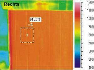 Thermogramm mit Oberflächentemperatur