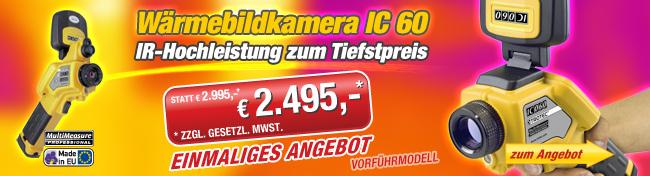 Wärmebildkamera IC 60 als Vorführmodell zum Tiefstpreis