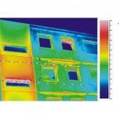 Thermografiebild des Gebäudes