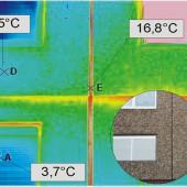 Thermogramm und Realbild