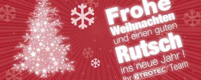 Trotec wünscht fröhliche Weihnachten