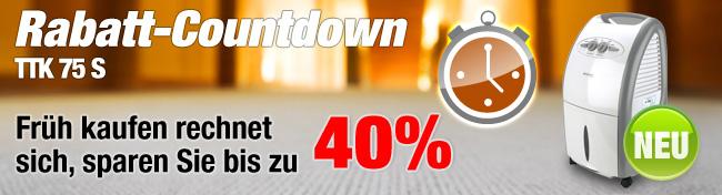 Luftentfeuchter TTK 75 S Rabatt-Countdown