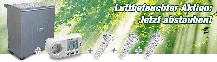 Aktion: Luftbefeuchter + Energiekostenmessgerät + 3 Secosan Sticks