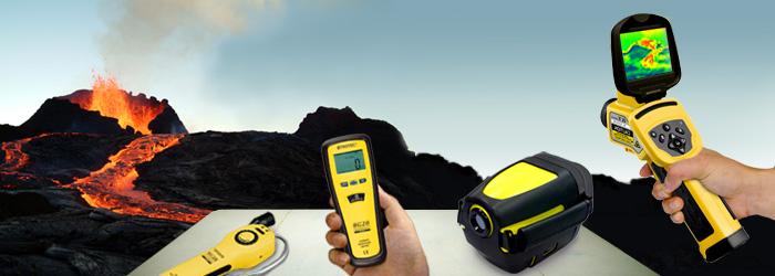 Messgeräte zur Vulkanforschung und anderen Zwecken