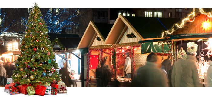 Electric heaters to fight off the cold at German Christmas Markets