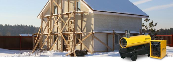 Winterbaustelle - die richtige Beheizung