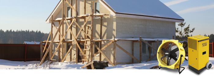 bautrocknung auf der winterbaustelle