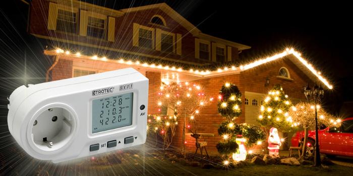 mit dem Energiekostenmessgerät behält mn die Kosten der Weihnachtsbeleuchtung immer im Blick