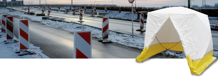 Trotec Montagezelte für unterbrechungsfreies Arbeiten bei jedem Wetter