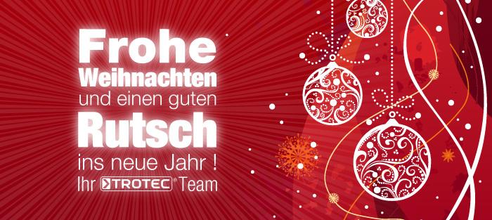 Trotec wünscht Ihnen Frohe Weihnachten und ein gutes neues Jahr!