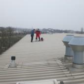 Auf dem Dach des Hotels