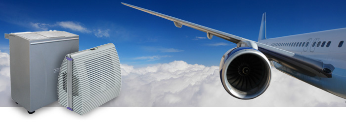 Luftentfeuchter und Flugzeug