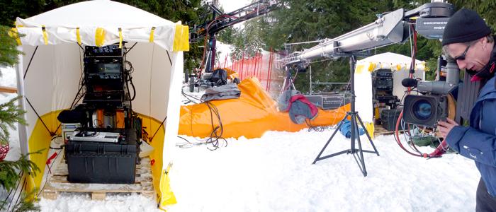 Trotec Montagezelte bei der Ski-WM in Garmisch