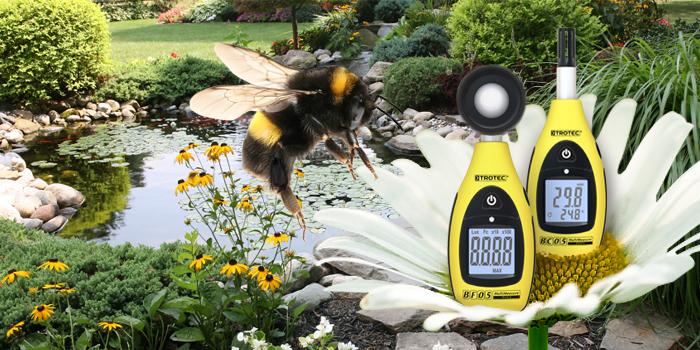 Thermohygrometer und Luxmeter für den Garten