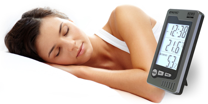 Gesunder Schlaf mit dem Thermohygrometer von Trotec