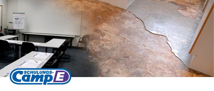 Schulungscamp E: Wasserschadensanierung an Fußbodenkonstruktionen