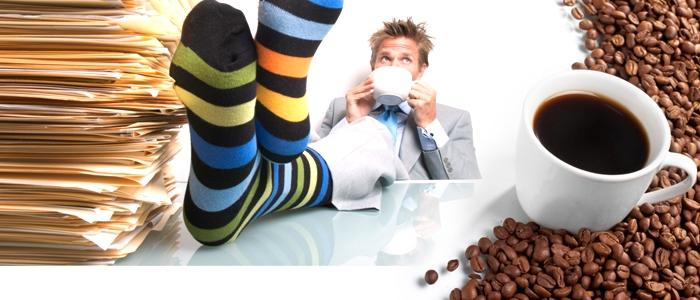 Kaffeegenuss in der Pause
