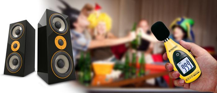 Das Schallpegelmessgerät von Trotec im Partyeinsatz