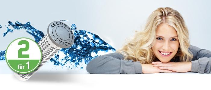 SecoSan Sticks zur Wasserhygiene 2 für 1 Promo-Aktion