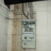 Wasseraustritt am Stromkasten