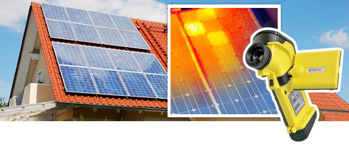 Solaranlage prüfen mit Thermografie