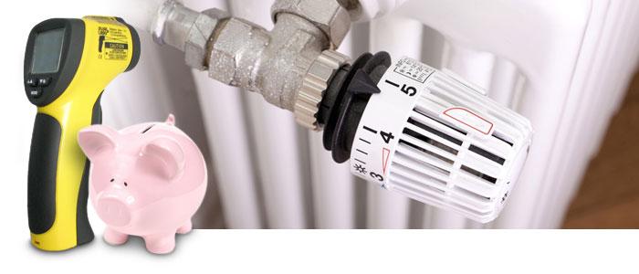 Heizkosten sparen mit Pyrometer