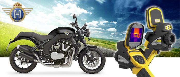 Thermografische Untersuchungen bei Horex Motorrädern