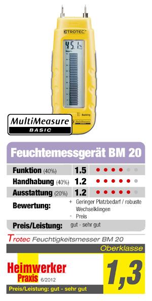 Holzfeuchtemessgerät BM20 im Heimwerker Prxis Test