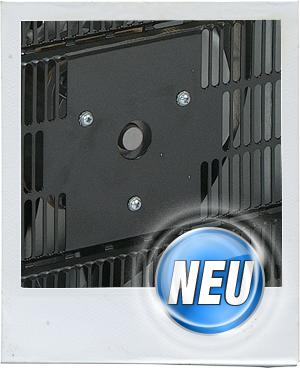 Das serienmäßig eingebaute Luftleitblech optimiert die Wärmeabgabe und garantiert einen maximalen Wirkungsgrad